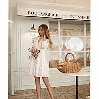 Платье женское белое прошва