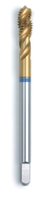 Машинний мітчик DIN 376 (2184-1) 6H HSSE-TIN Form C/ RSP 35° Голубе кільце M 18  GSR Німеччина