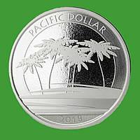 Фіджі 1 долар 2018 р. Тихоокеанський долар (срібло 999 проби , 1 унція)