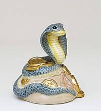 Статуэтка  Змея- к богатству (8см) из фарфора в подарочной коробке