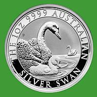 Австралия 1 доллар 2019 г. Фауна - лебедь (серебро 999 пробы , 1 унция)