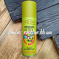 Аэрозоль от комаров, мошек и слепней ZanZara Family 4 часа 100 мл