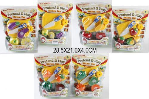 "Овощи и фрукты на липучках ""Kitchen Fun"" 9810/11/12"
