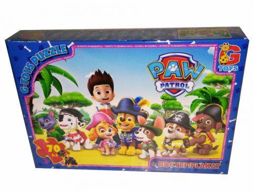 "Пазлы G-Toys ""Щенячий патруль: пираты"", 70 элементов PW0823"