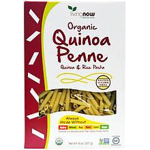 """Органические макароны из киноа с рисом NOW Foods """"Organic Quinoa Penne"""" без глютена (227 г)"""