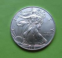 США 1 доллар 2019 г. Шагающая Свобода (серебро 999 пробы , 1 унция)
