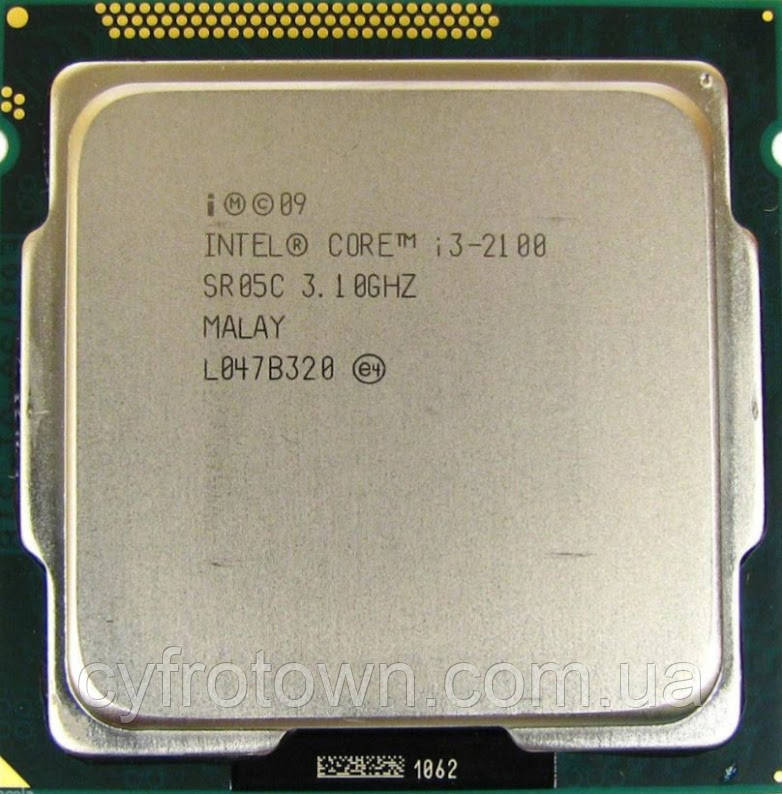 Процесор Intel Core i3 2100 2x3.1ghz 3mb s1155 для ПК вживаний робочий