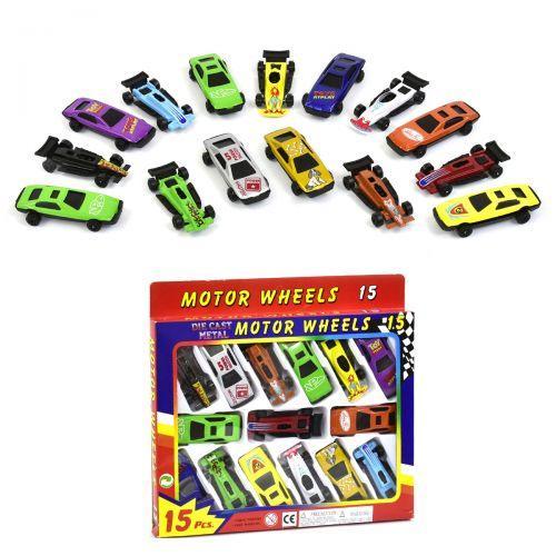 """Набор металлических моделей """"Motor Wheels"""" (15 машин) 92753-15S"""