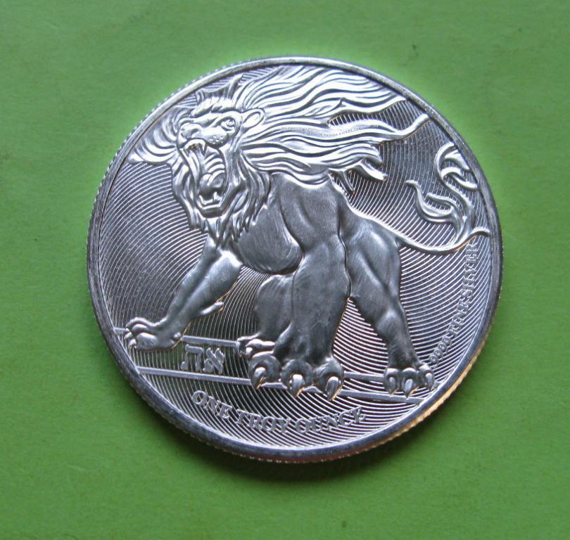 Ниуэ 2 доллара 2019 г. Лев Иуды (серебро 999 пробы , 1 унция)