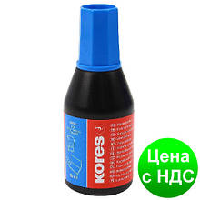 Краска штемпельная KORES, 28 мл, синяя K71308