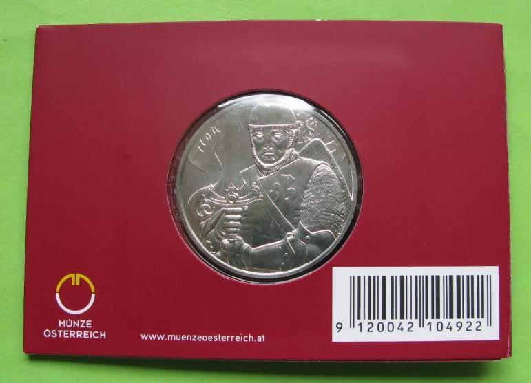 Австрия 1,5 евро 2019 г. Леопольд V (серебро 999 пробы , 1 унция)