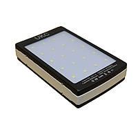 УМБ солнечная UKC Led Solar Metal 9000 mAh Черный с белым (008069)