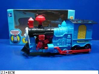 """Муз. розв. поїзд Thomas the Train """"Томас і друзі"""" 88158 (48шт/2) батар., звук, трансформер, в кор. 23*8 см"""