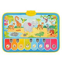 Развивающий коврик детский Limo Toy M 3676 Зоопарк Разноцветный (008118)