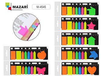 Набор бумаги для заметок с клеевым краем,1 фигурный блок,20 листов + 5 блоков
