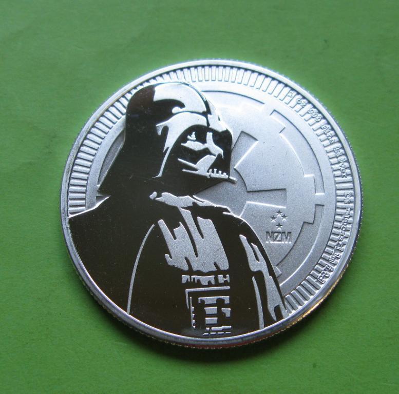 Ниуэ 2 доллара 2017 г. Звездные войны - Дарт Вейдер (серебро 999 пробы , 1 унция)
