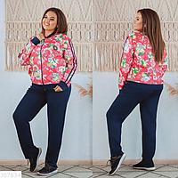 Женский прогулочный костюм в спортивном стиле в большом размере Украина Размеры 48-50, 52-54, 56-58