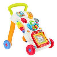 Музыкальные Ходунки каталка Huanger HE0801 для детей от 9-ти месяцев 2 АА Разноцветный (007646)
