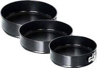Формы для выпечки набор из 3шт Stenson MH-0123 Черный (004804)