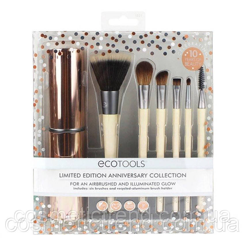 Набор кистей для макияжа  EcoTools Limited Edition Anniversary Collection (6 кистей+футляр/тубус) Оригинал!