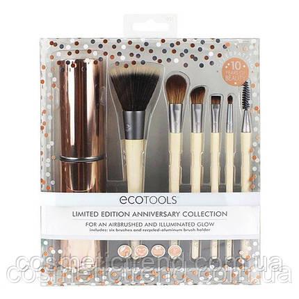 Набор кистей для макияжа  EcoTools Limited Edition Anniversary Collection (6 кистей+футляр/тубус) Оригинал!, фото 2