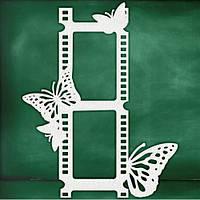 """Чипборд """"Фотоплівка з метеликами"""""""