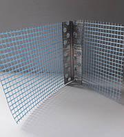 Уголок штукатурный алюминиевый перфорированный с сеткой 125 гр/м2 3 м 7х7см