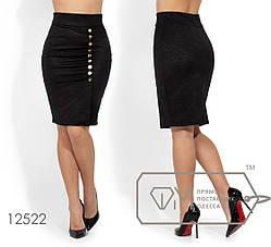 Классическая молодёжная юбка из стрейч жаккарда в деловом стиле S, M, L, фото 2