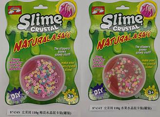 Лизун слайм Slime 87434S/87434T (120шт) 2 види, з наповнювачем, 110 гр, на планшетці