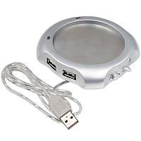 Подогреватель для чашки USB 0.5 А Серебристый (AN05006)