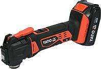 Многофункциональный инструмент (реноватор) аккумуляторный YATO Li-Ion 18 В 2 Ач YT-82818