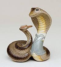 Статуэтка  Змея- аристократ (10см) из фарфора в подарочной коробке