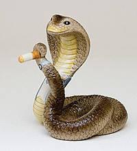 Статуэтка  Змея- босс (10см) из фарфора в подарочной коробке