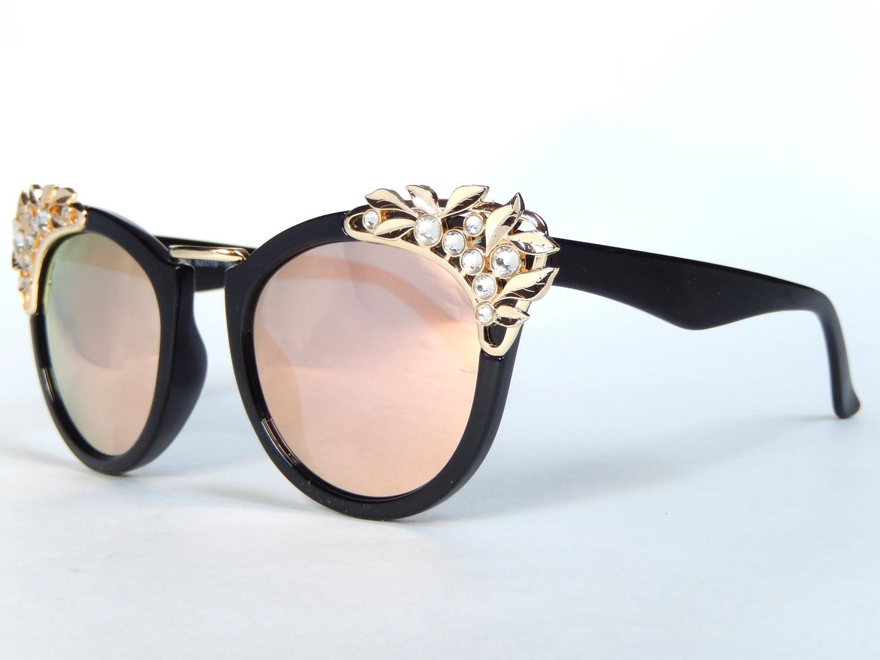 Солнцезащитные очки Elegant Metal Carving Leaves_rose gold