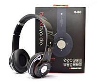 Беспроводные наушники S460 Bluetooth black с MP3 плеером черные