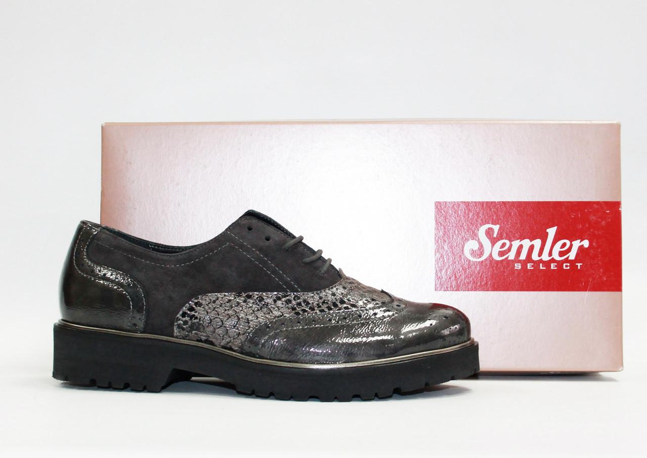 Женские туфли броги Semler Германия оригинал натуральная кожа 39