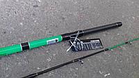 Спиннинг штекерный   зеленый  weida Concord   карбоновый   2,4 м ( SIC-кольца)  50 -150 гр тест