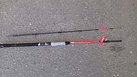 Спиннинг штекерный   красный weida Concord  карбоновый   2,4 м (concord SIC-кольца)  50 -150 гр тест