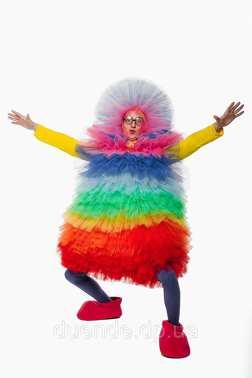 Фьека Разноцветный женский карнавальный костюм / BL - ВМ263