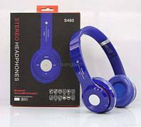 Беспроводные наушники Beats Solo HD S460 Bluetooth Blue с MP3 плеером Синие реплика