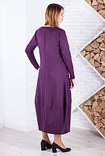 Трикотажное свободное платье для полных, фото 3