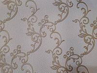 Шпалери вінілові Імперіал 5690-01 світло-бежевий фон + золото, фото 1