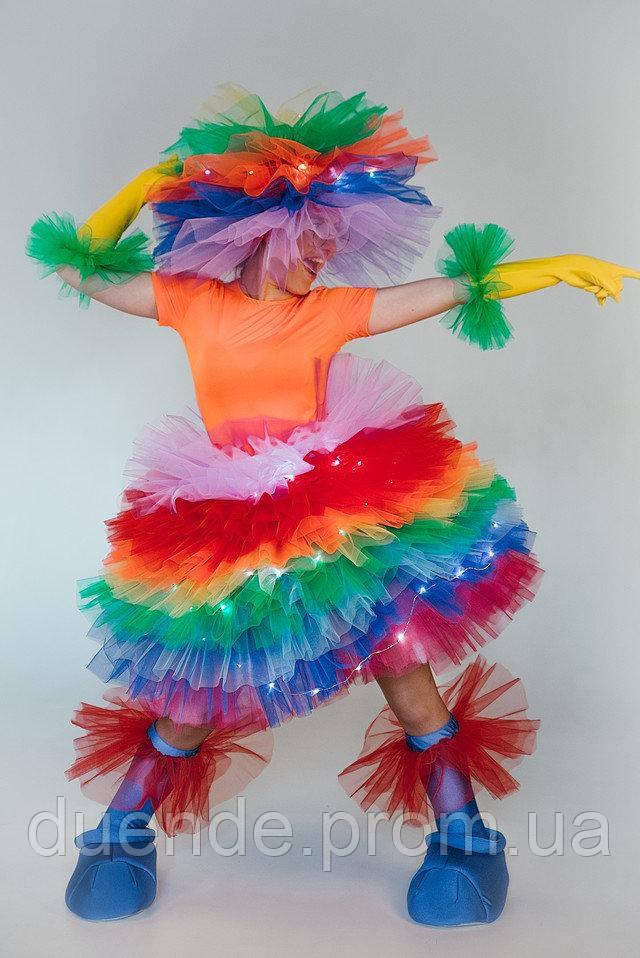 Фьека светящийся цветной женский карнавальный костюм / BL - ВЖ333