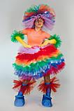 Фьека светящийся цветной женский карнавальный костюм / BL - ВЖ333, фото 2