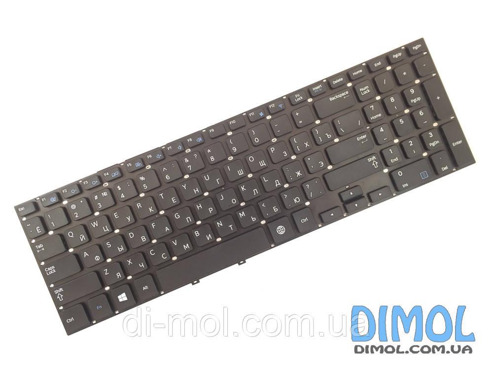 Оригинальная клавиатура для ноутбука Samsung NP270 series, rus, black