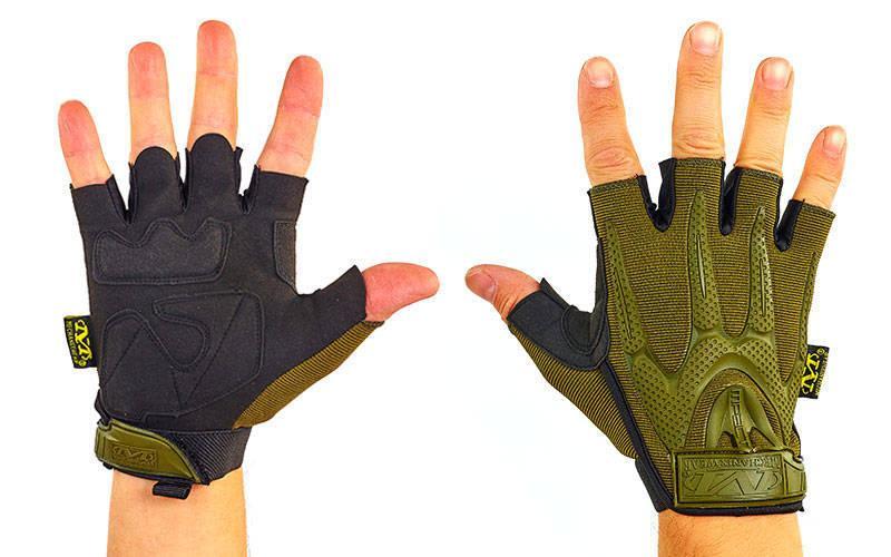 Перчатки тактические с открытыми пальцами MECHANIX WEAR BC-4673-H (р-р L, оливковый)