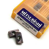 Пластины фрезерные Mitsubishi APMT1604PDER-H2 V15TF (Япония), набор из 10 шт, для фрез BAP 400R