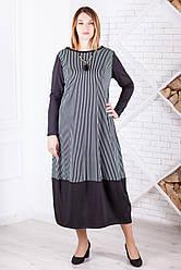 Платье-бочонок ниже колена для полных