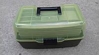 Универсальный ящик, для рыболовных снастей 3 полки  прозрачный