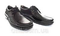 Туфли мужские черные прошитые на шнурках (код 2455), фото 1